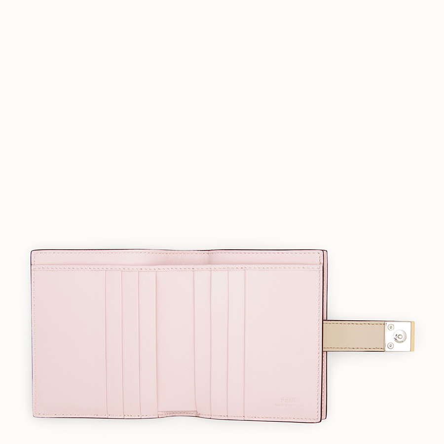 FENDI BIFOLD - Beige leather compact wallet - view 5 detail