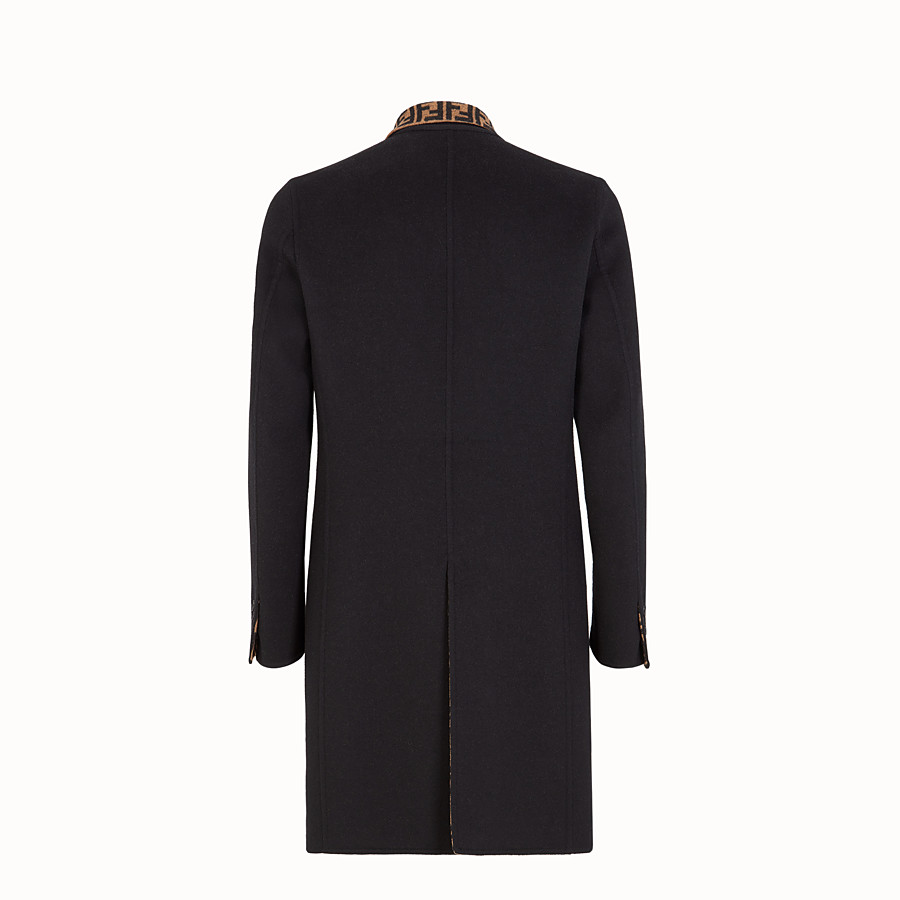 FENDI COAT - Blue wool coat - view 2 detail
