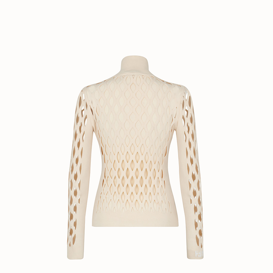 FENDI PULLOVER - Beige yarn jumper - view 2 detail