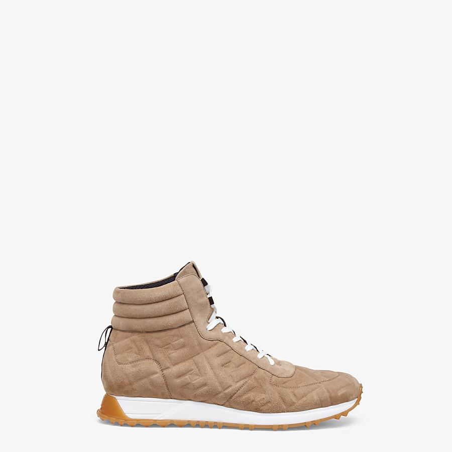 FENDI SNEAKER - High-Top-Sneakers aus Wildleder in Beige - view 1 detail