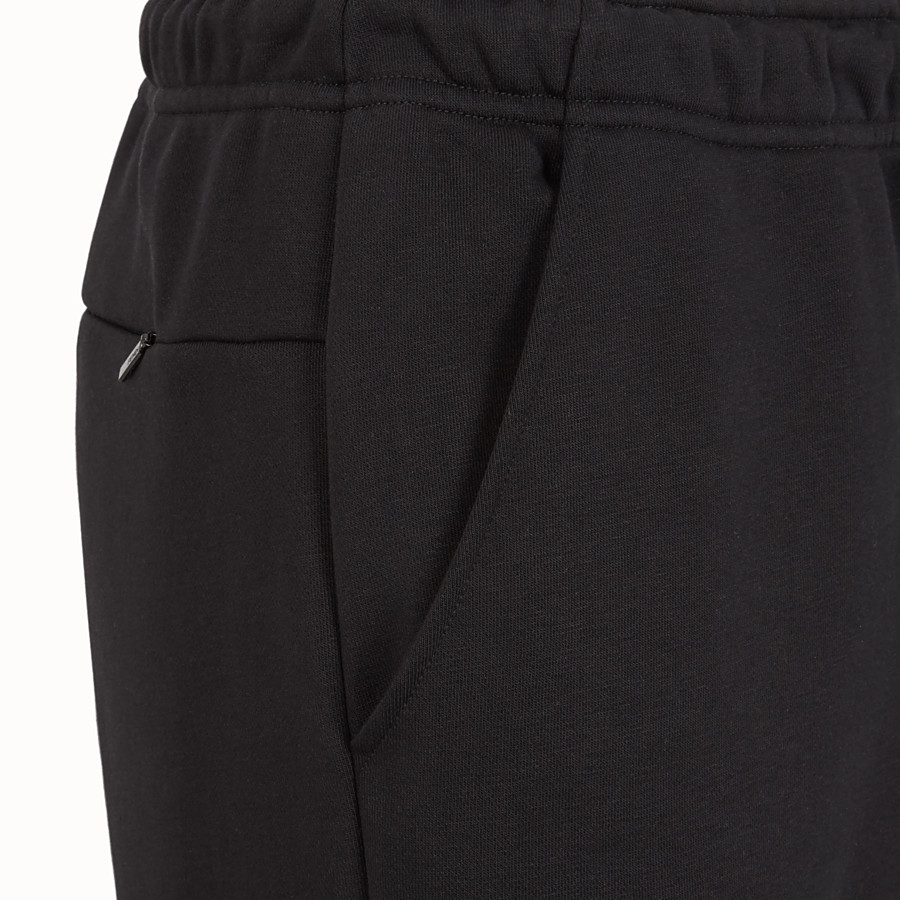 FENDI TROUSERS - Black cotton trousers - view 3 detail