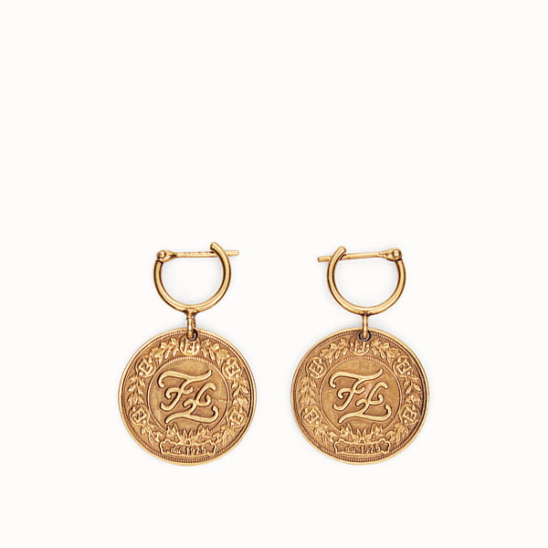 FENDI KARLIGRAPHY EARRINGS - Gold-color earrings - view 1 small thumbnail