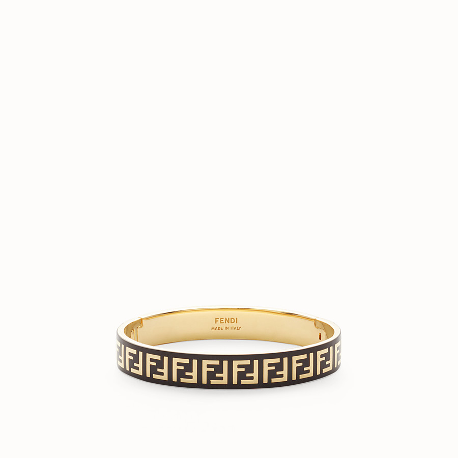 FENDI BRACELET FF - Bracelet couleur or et noir - view 1 detail