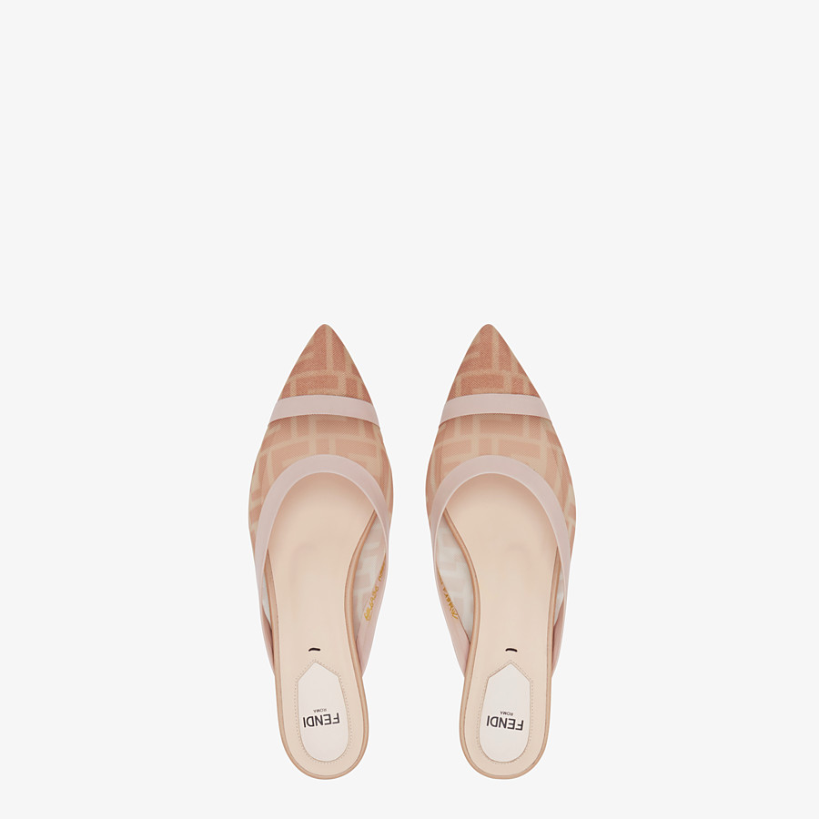 FENDI SLINGBACK - Colibrì en filet rose et cuir nude - view 4 detail