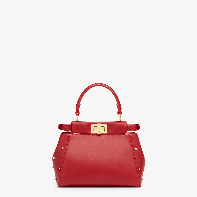 FENDI PEEKABOO ICONIC XS - Red leather mini-bag - view 3 detail
