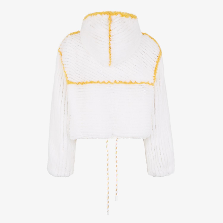 FENDI JACKET - White mink jacket - view 2 detail