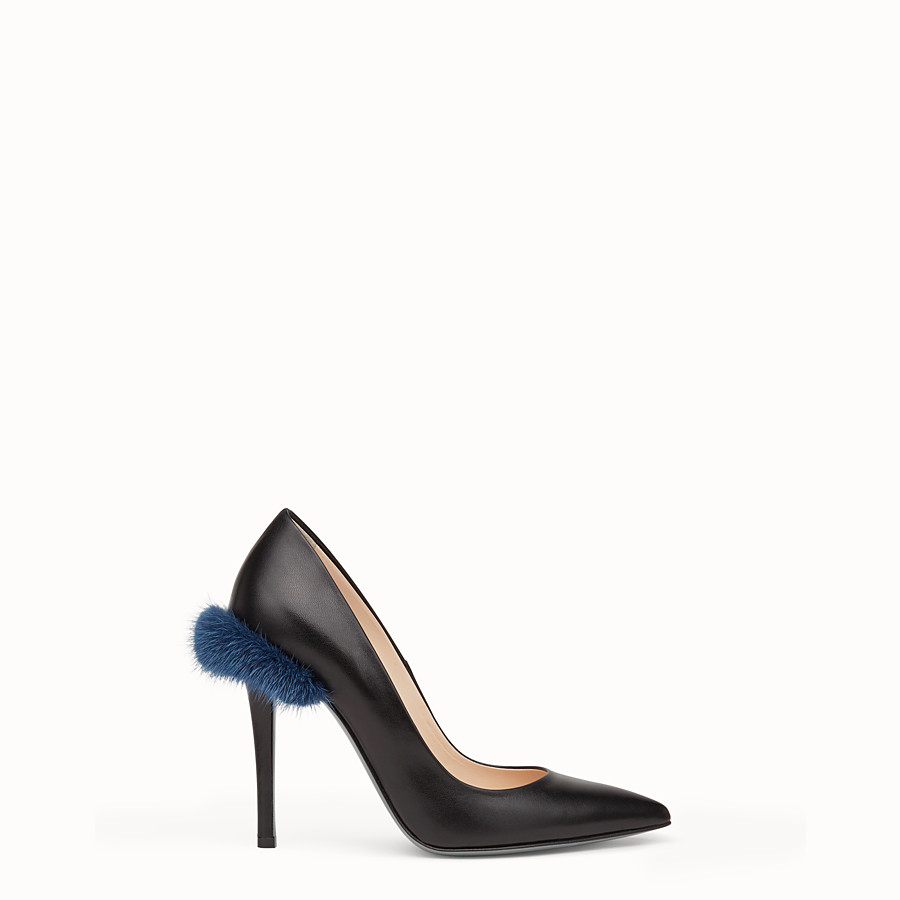 FENDI PUMPS - Black leather court shoes - view 1 detail