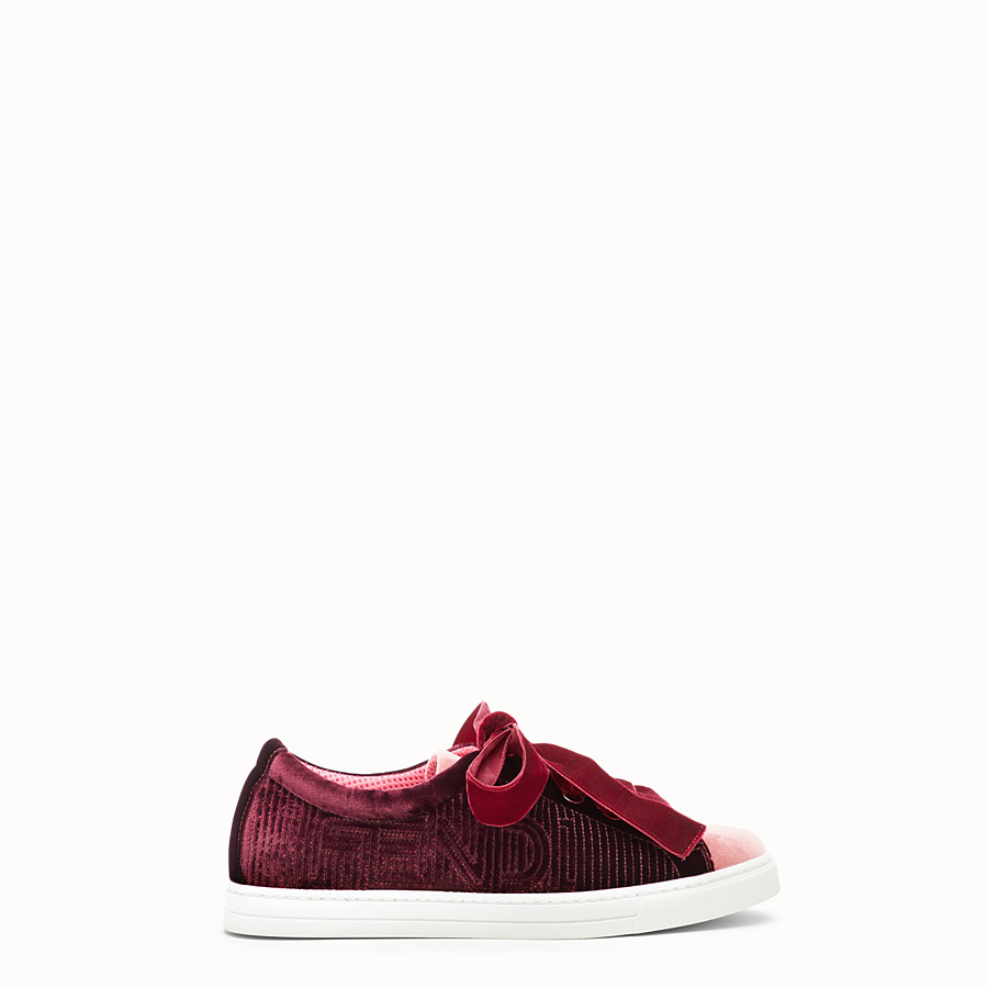 FENDI SNEAKERS - Red leather sneakers - view 1 detail