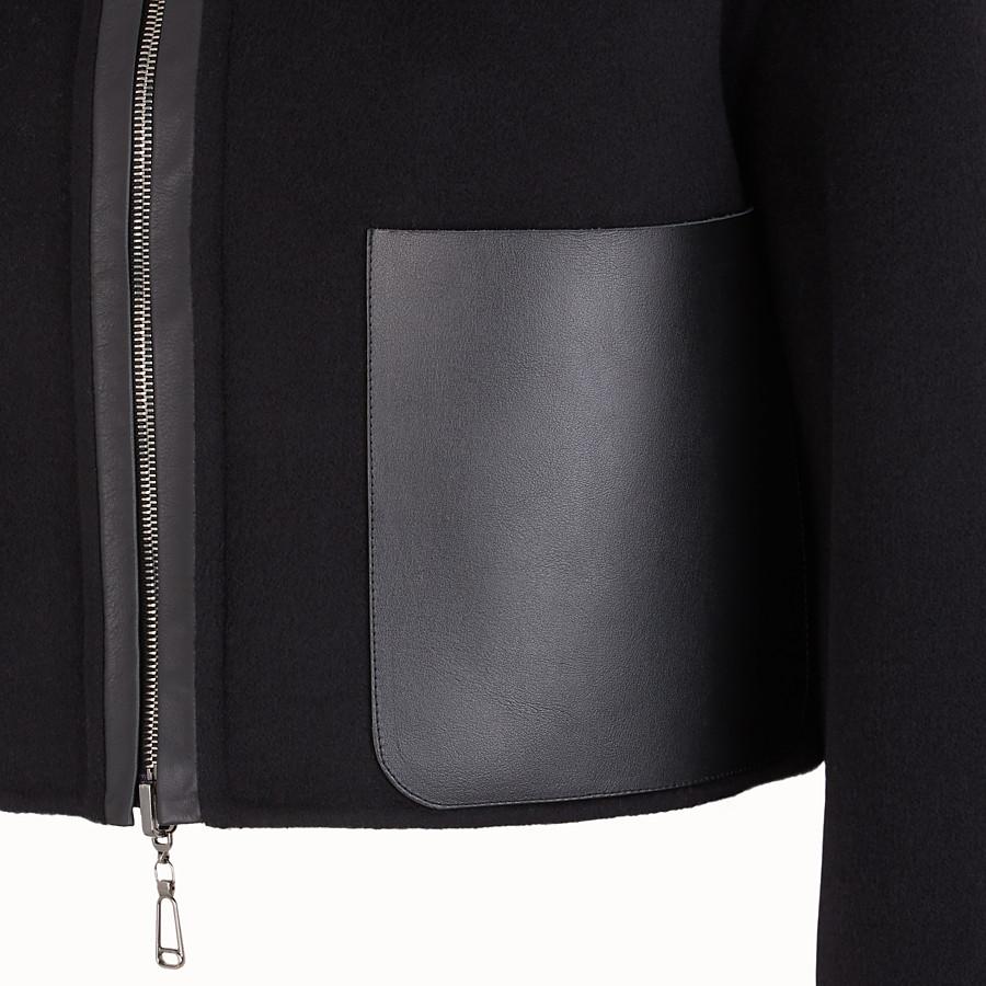 FENDI JACKET - Black wool jacket - view 3 detail