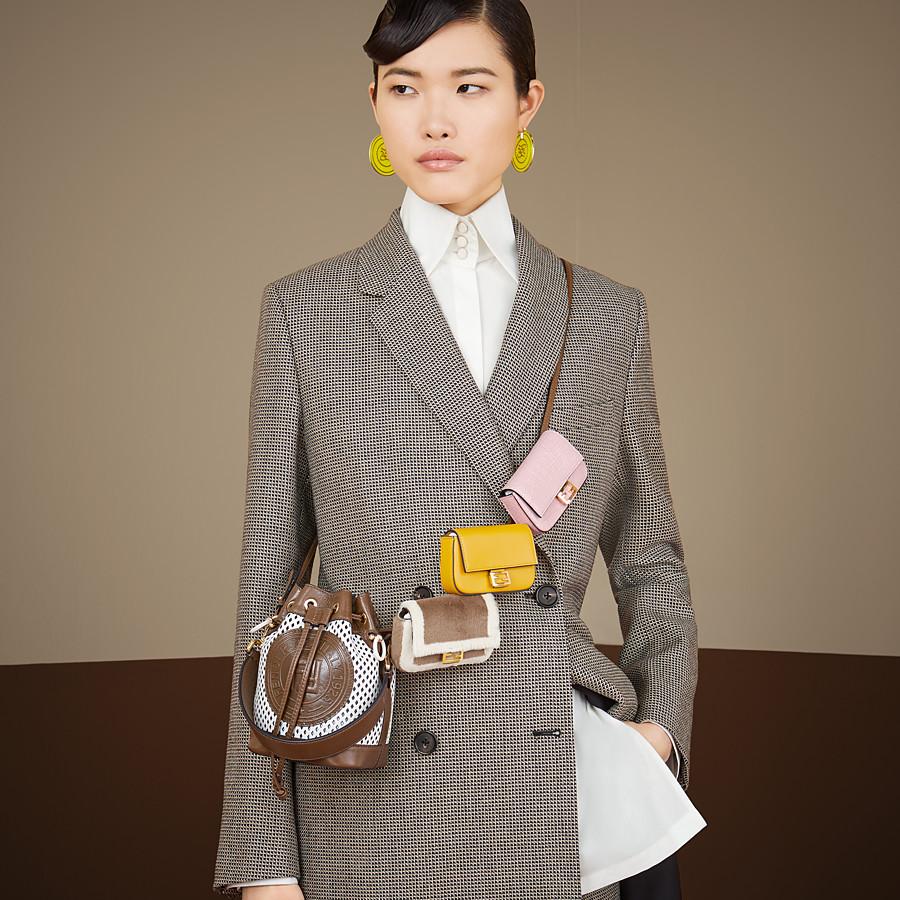FENDI MON TRESOR - Minibag in pelle bianca - vista 2 dettaglio