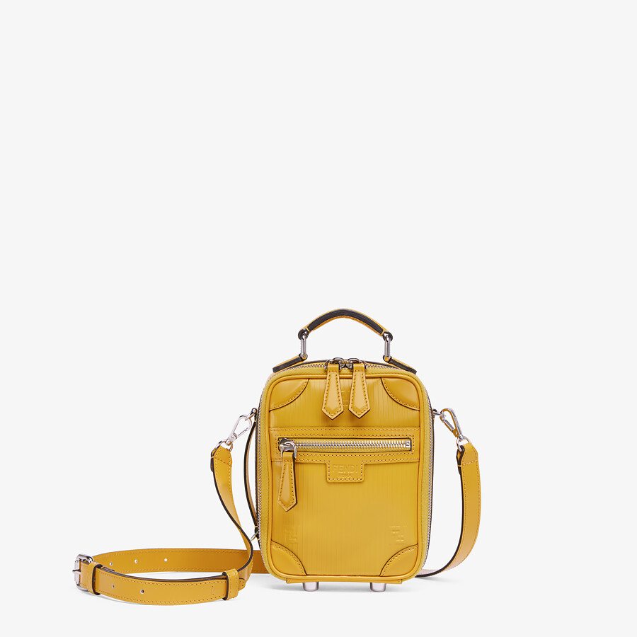 FENDI TRAVEL MINI BAG - Yellow leather bag - view 1 detail