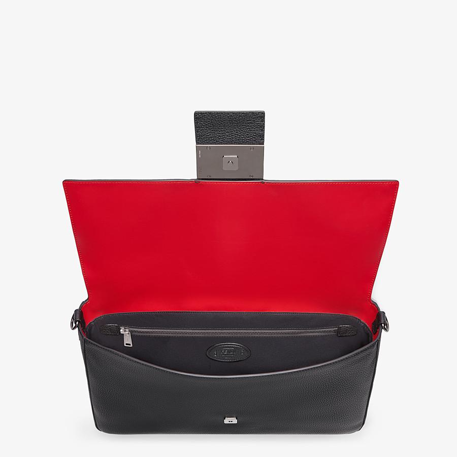 FENDI BAGUETTE - Black leather bag - view 5 detail