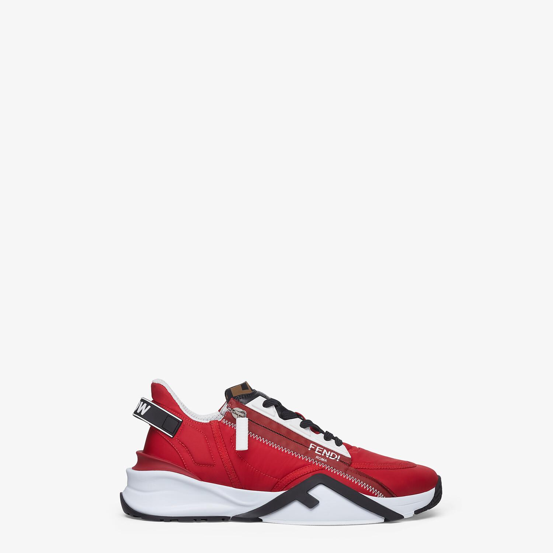 FENDI SNEAKERS - Red nylon low-tops - view 1 detail