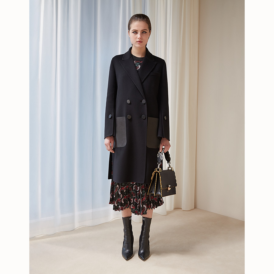 FENDI COAT - Black wool coat - view 4 detail