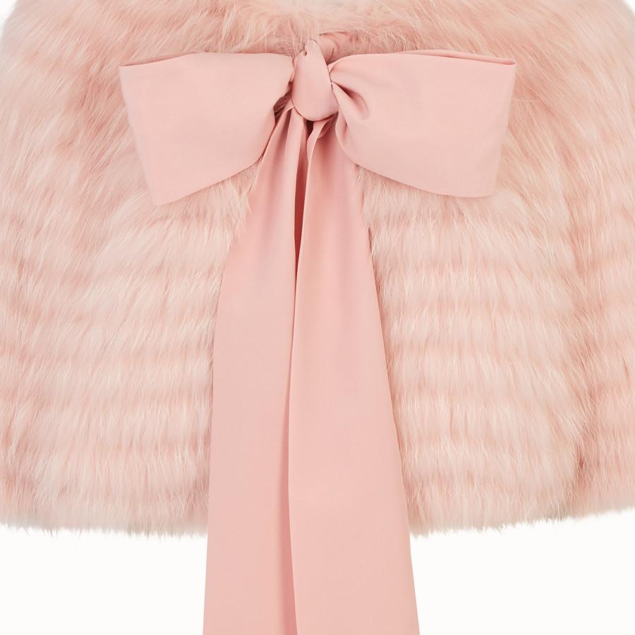 FENDI CAPE - Pink fox fur cape - view 3 detail