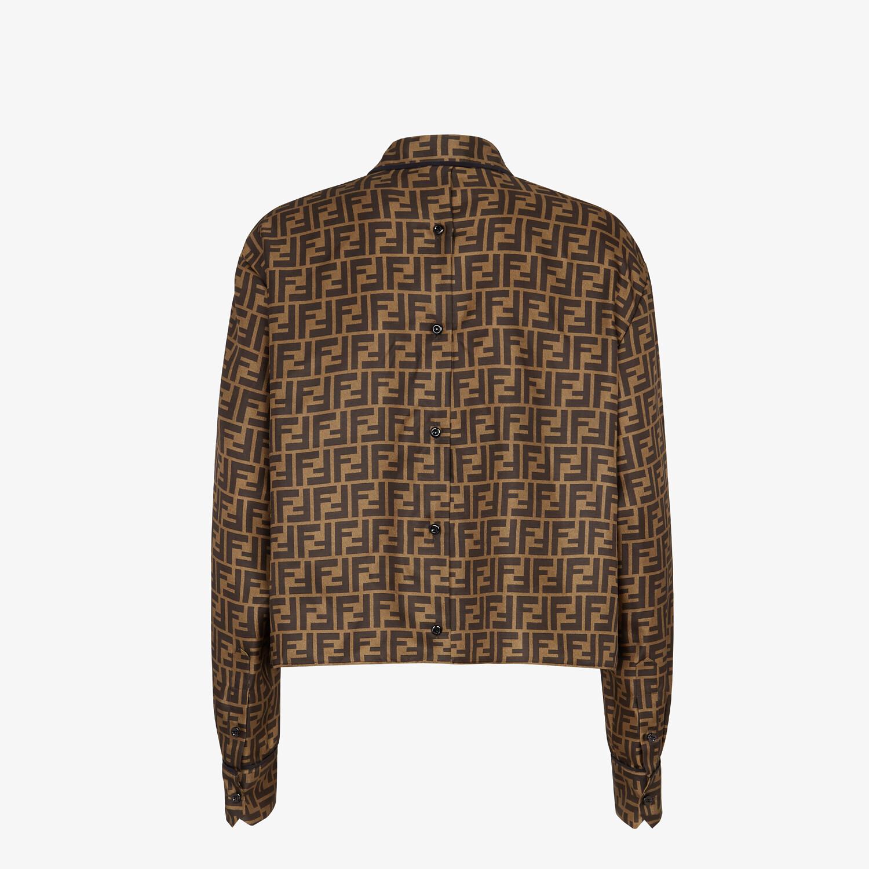 FENDI SHIRT - Brown twill shirt - view 2 detail