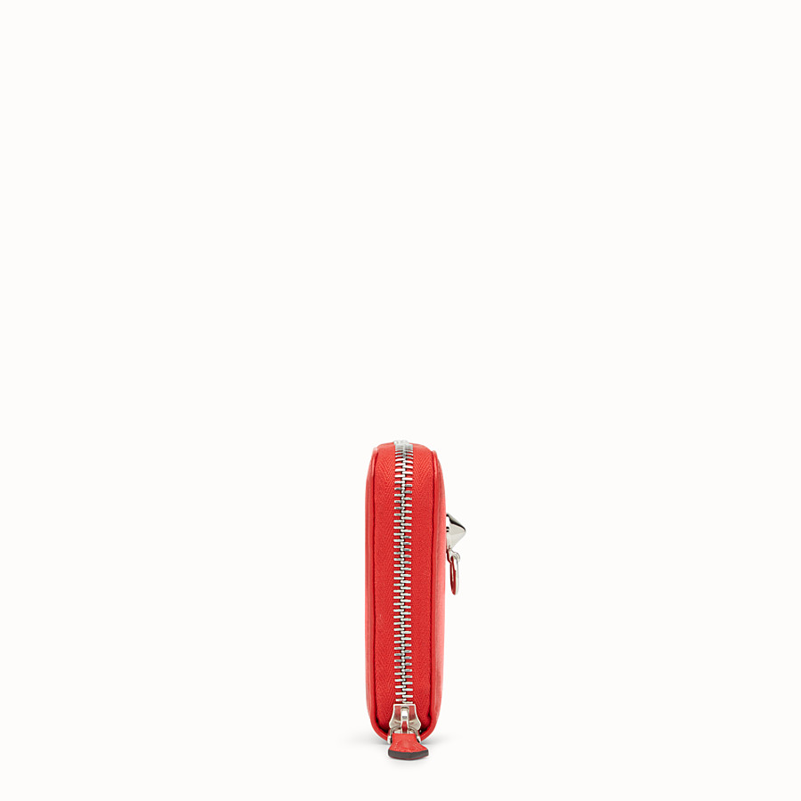 FENDI ZIP-AROUND - Red leather zip-around - view 3 detail