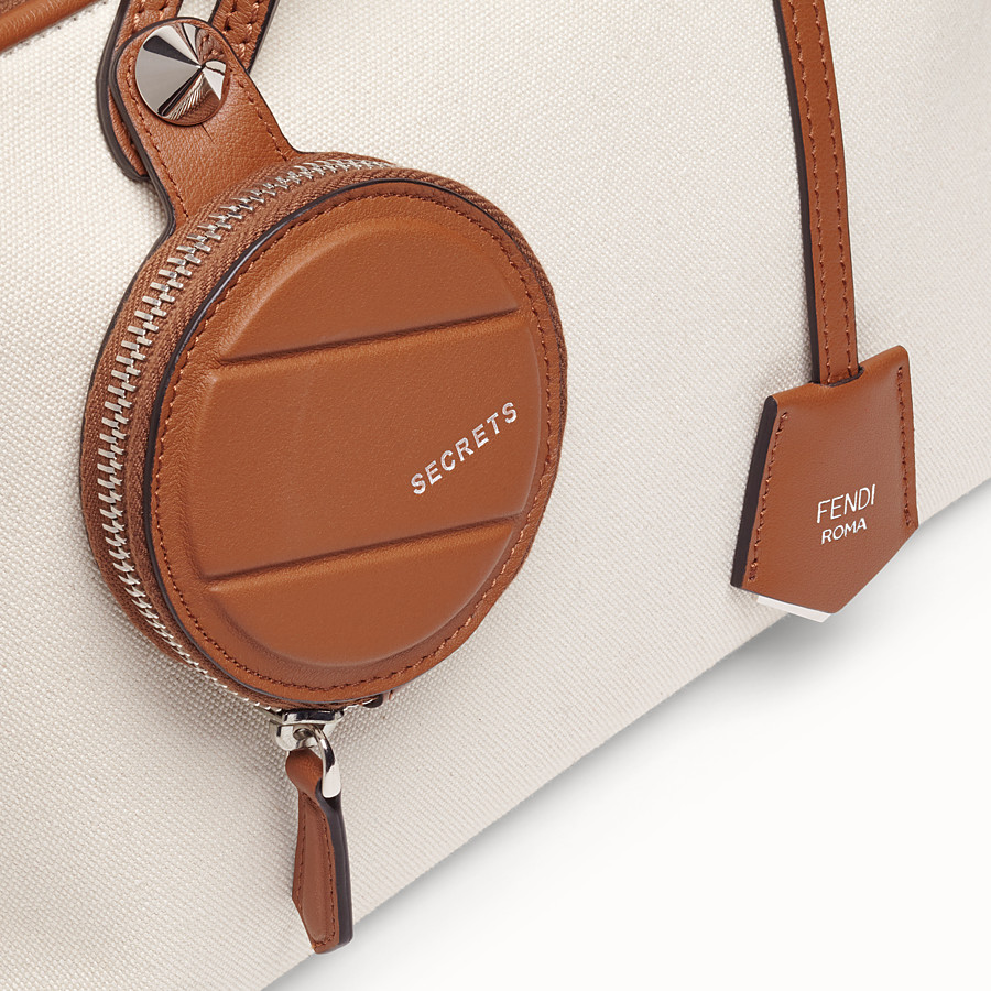 FENDI BY THE WAY MEDIUM - Beige canvas Boston bag - view 5 detail