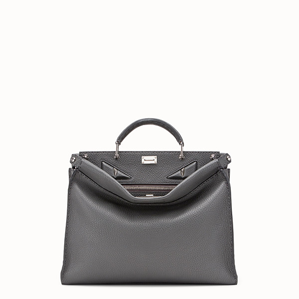 FENDI PEEKABOO FIT - Grey leather bag - view 1 small thumbnail