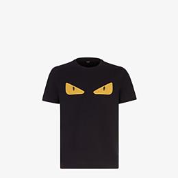 FENDI T-SHIRT - Black jersey T-shirt - view 1 thumbnail