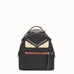 6f32a752f5e7 Black nylon and leather small backpack - MINI BACKPACK