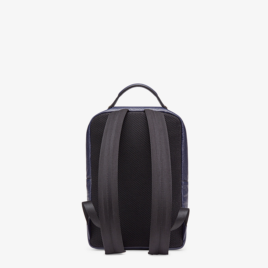 FENDI BACKPACK - Blue calf leather backpack - view 3 detail