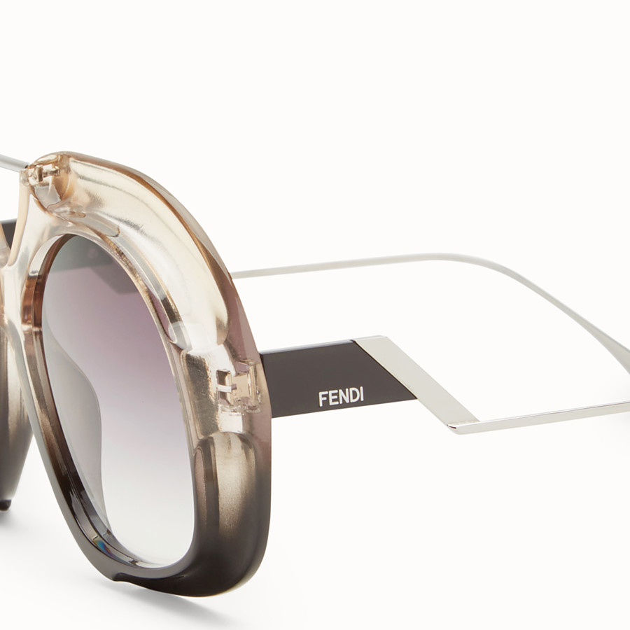 FENDI TROPICAL SHINE - Black and crystal sunglasses  - view 3 detail