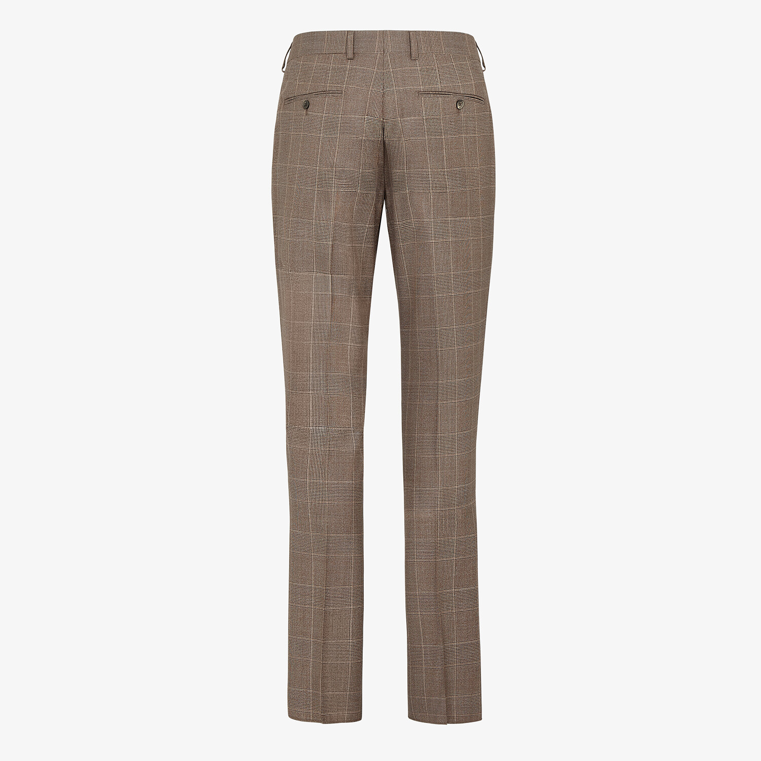 FENDI TROUSERS - Prince of Wales check wool trousers - view 2 detail