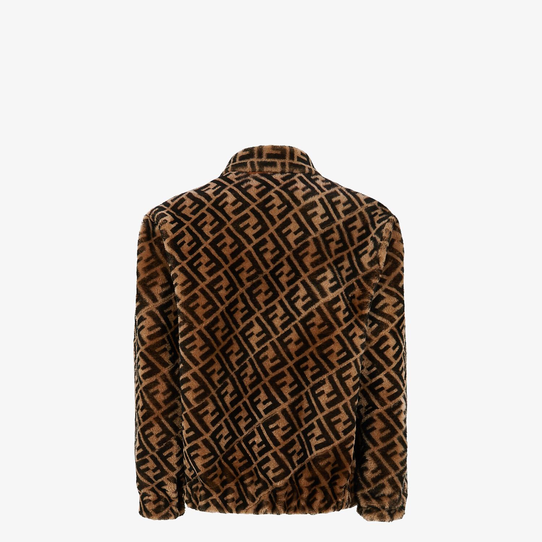 FENDI BLOUSON JACKET - Jacket in brown shearling - view 2 detail