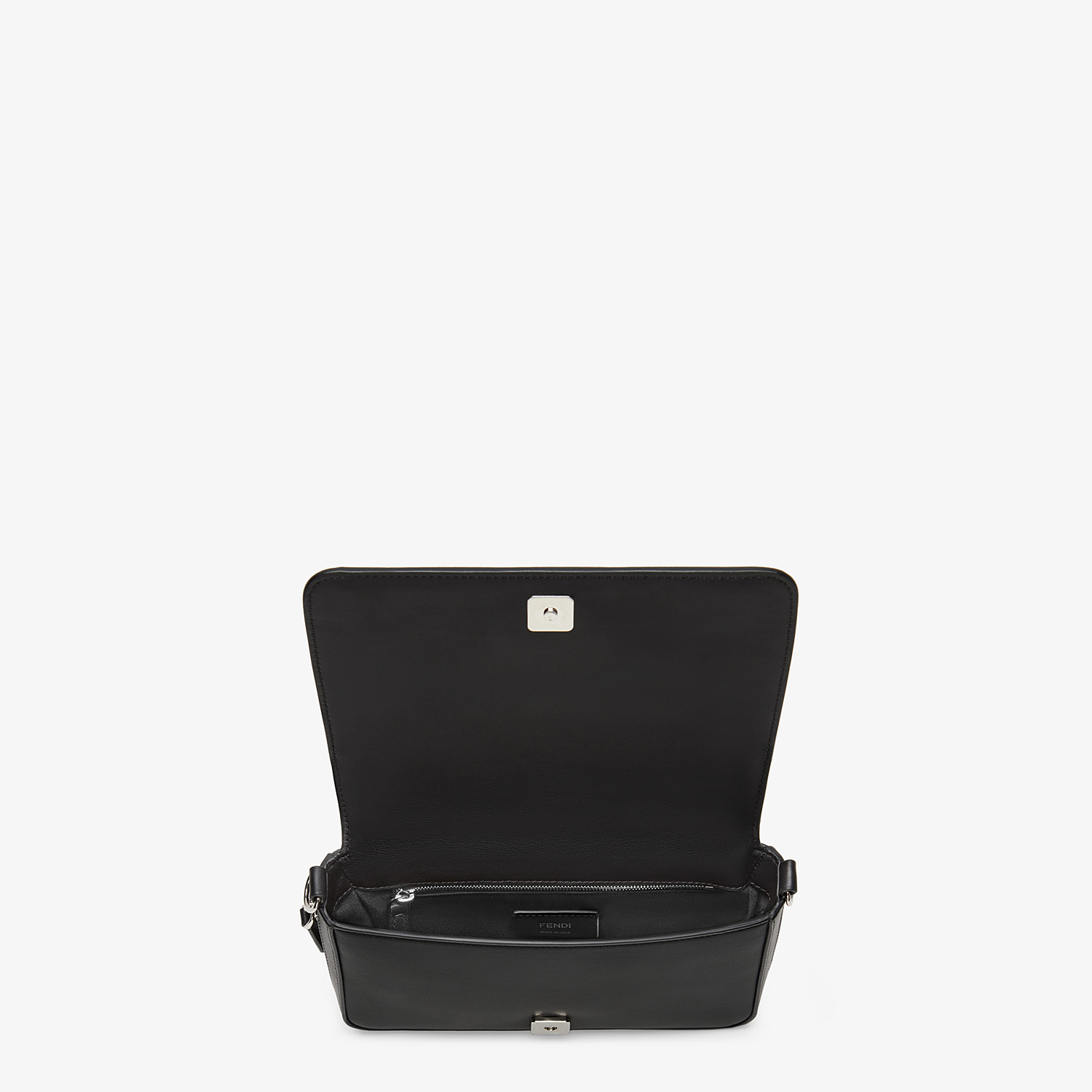 FENDI FLAP BAG - Black nappa leather bag - view 5 detail