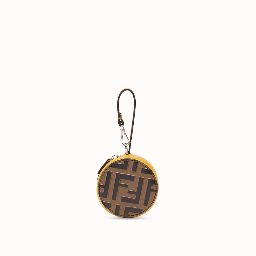FENDI BACKPACK CHARM - Yellow leather charm - view 1 detail