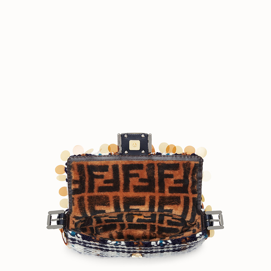 FENDI BAGUETTE - Tartan boiled wool bag - view 4 detail