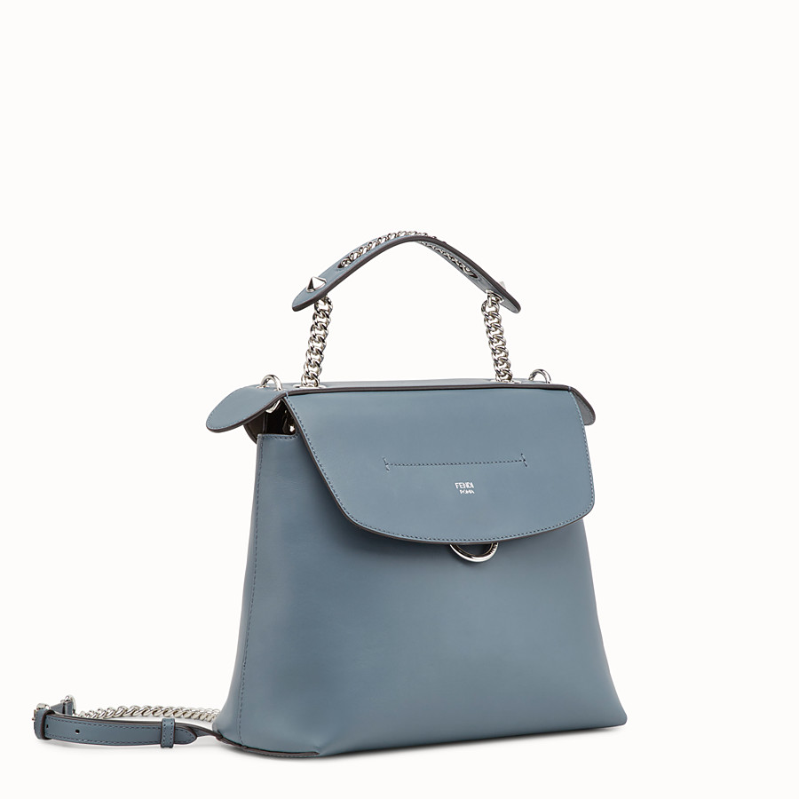 FENDI BACK TO SCHOOL BACKPACK - Small blue leather backpack - view 2 detail