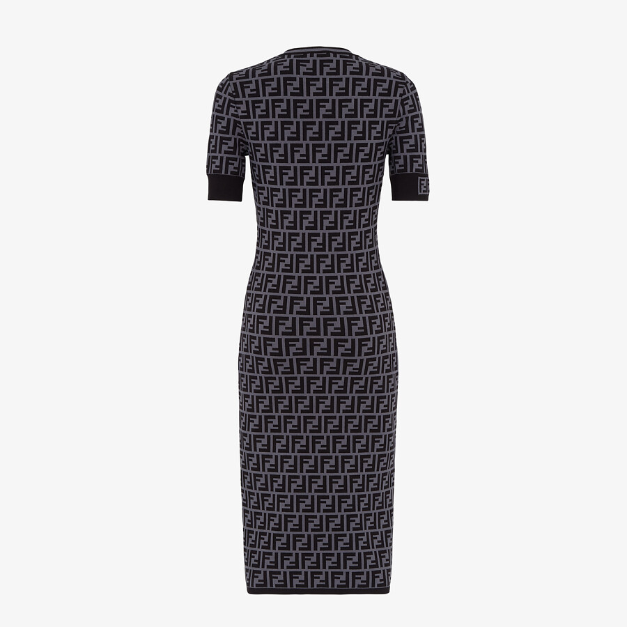 FENDI DRESS - FF motif fabric dress - view 2 detail