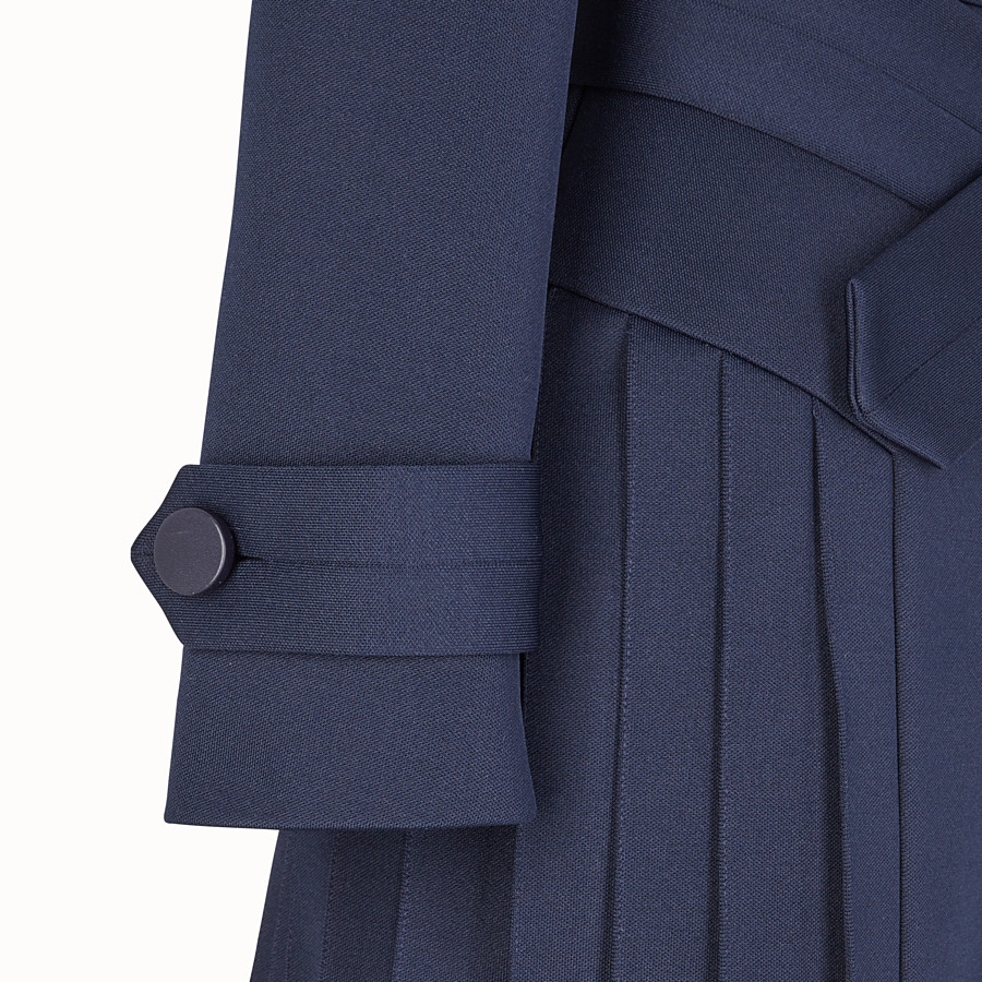 FENDI OVERCOAT - Blue cotton overcoat - view 3 detail