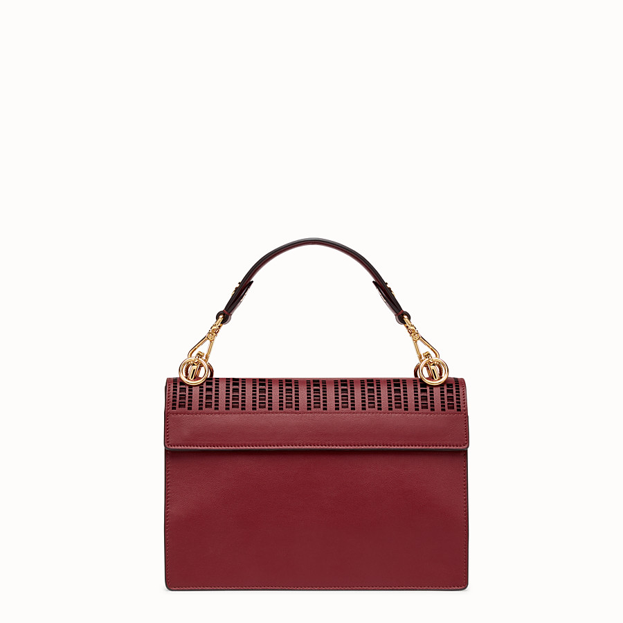FENDI KAN I - Burgundy leather bag - view 3 detail