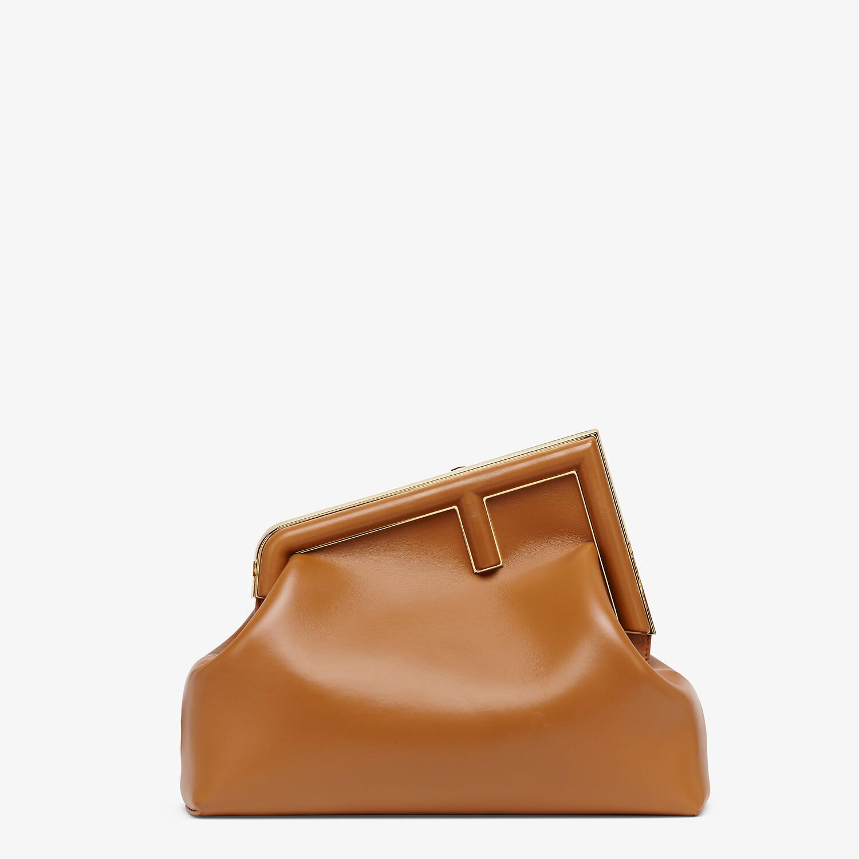 FENDI FENDI FIRST MEDIUM - Brown leather bag - view 1 detail