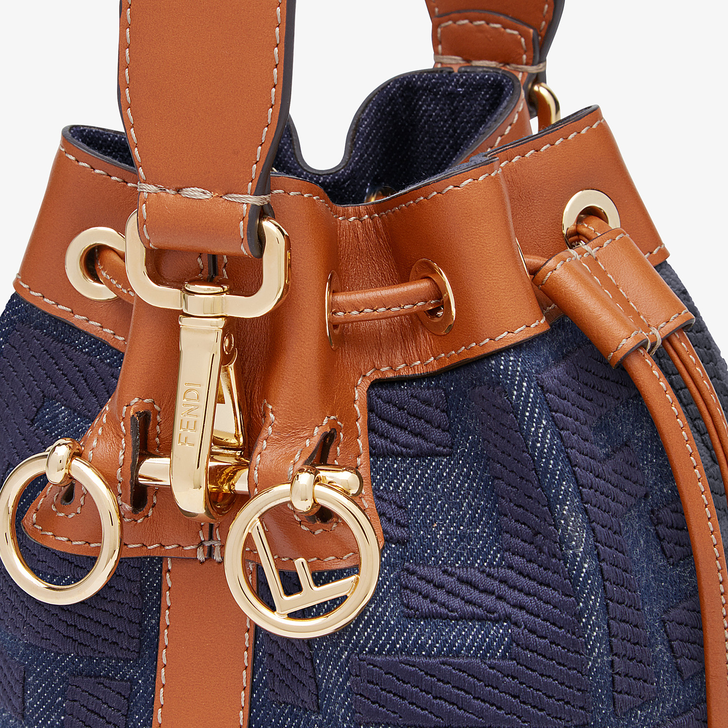 FENDI MON TRESOR - Blue denim mini bag - view 6 detail