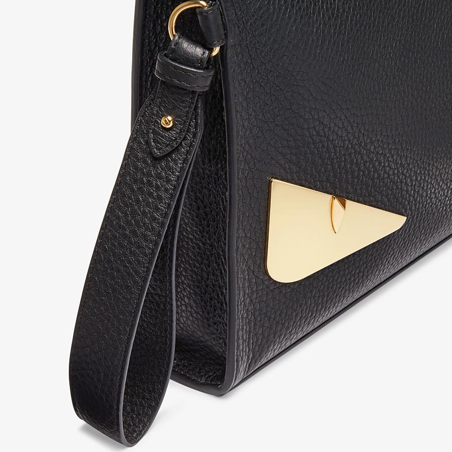 FENDI FLAT POUCH - Black leather pouch - view 5 detail