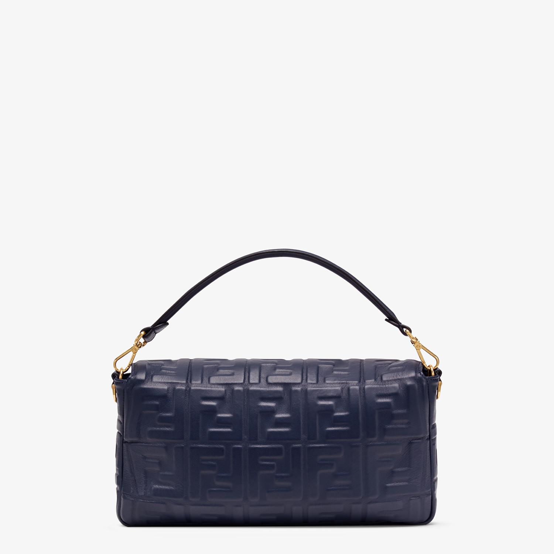 FENDI BAGUETTE LARGE - Blue nappa leather bag - view 3 detail