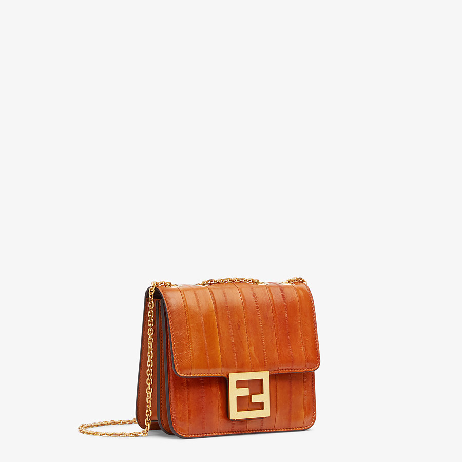 FENDI FENDI FAB - Brown eel leather bag - view 2 detail
