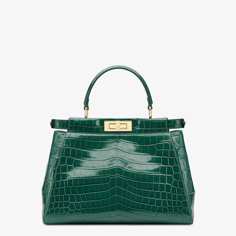 FENDI PEEKABOO MEDIUM - Emerald green crocodile leather handbag. - view 3 detail