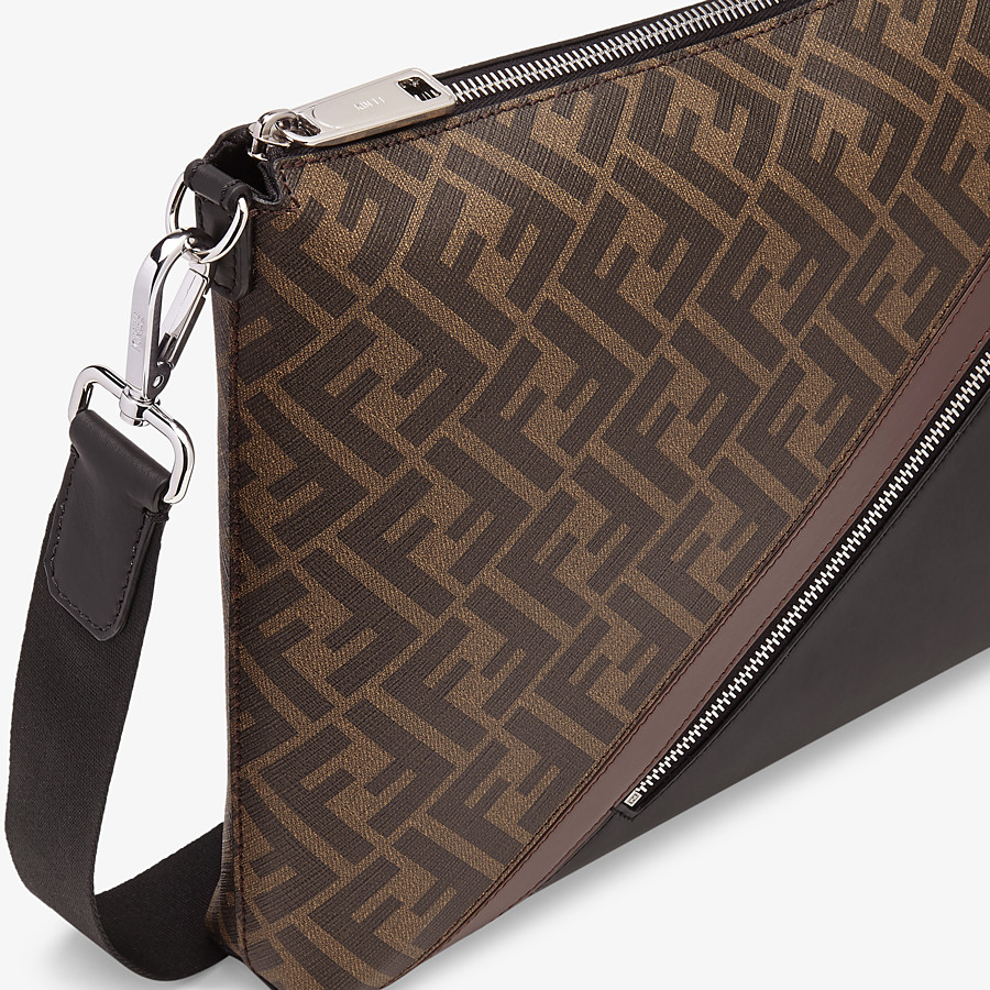 FENDI MESSENGER - Brown fabric bag - view 5 detail