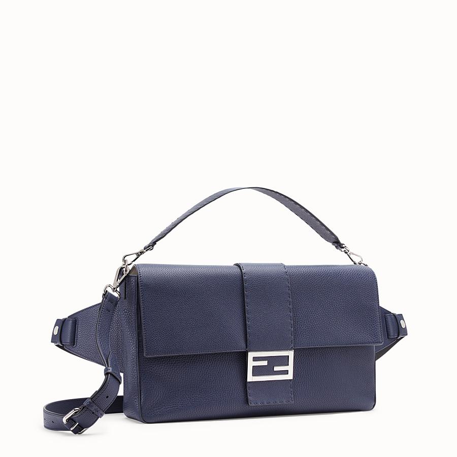 FENDI BAGUETTE - Blue leather bag - view 2 detail