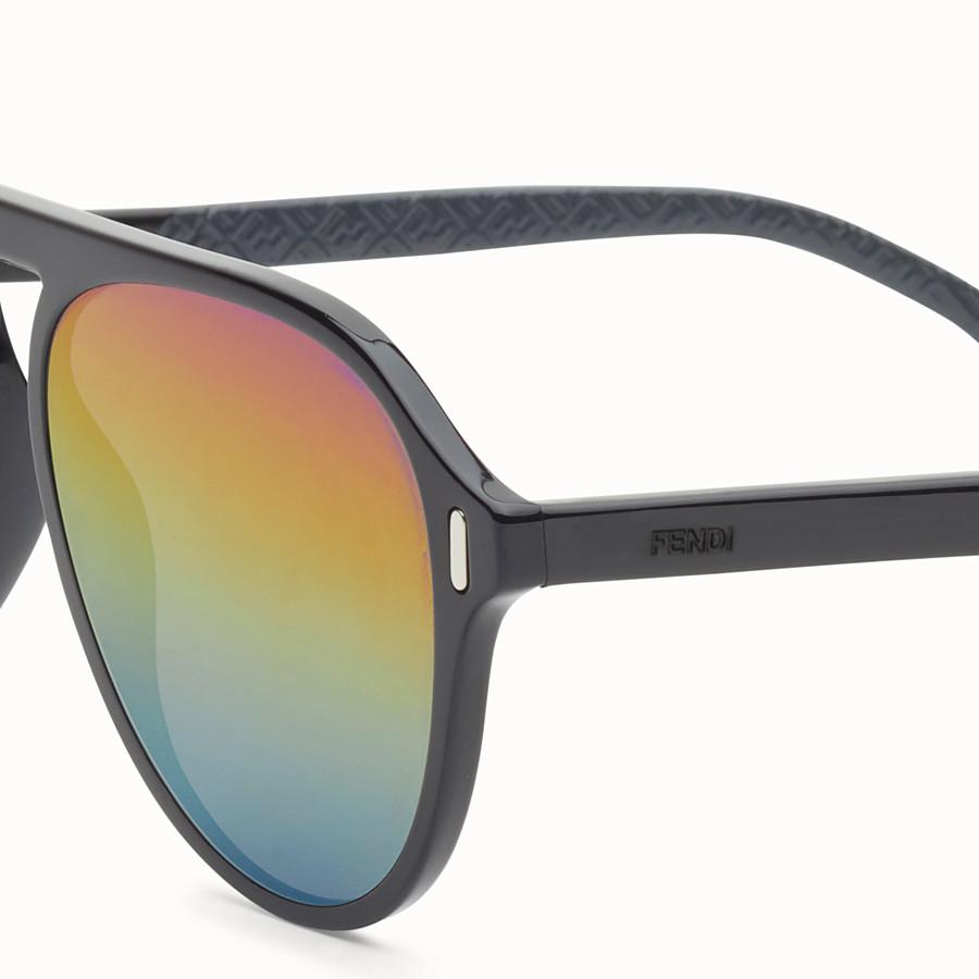 FENDI FENDI - Black and grey sunglasses - view 3 detail
