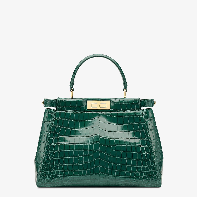 FENDI PEEKABOO MEDIUM - Emerald green crocodile leather handbag. - view 1 detail