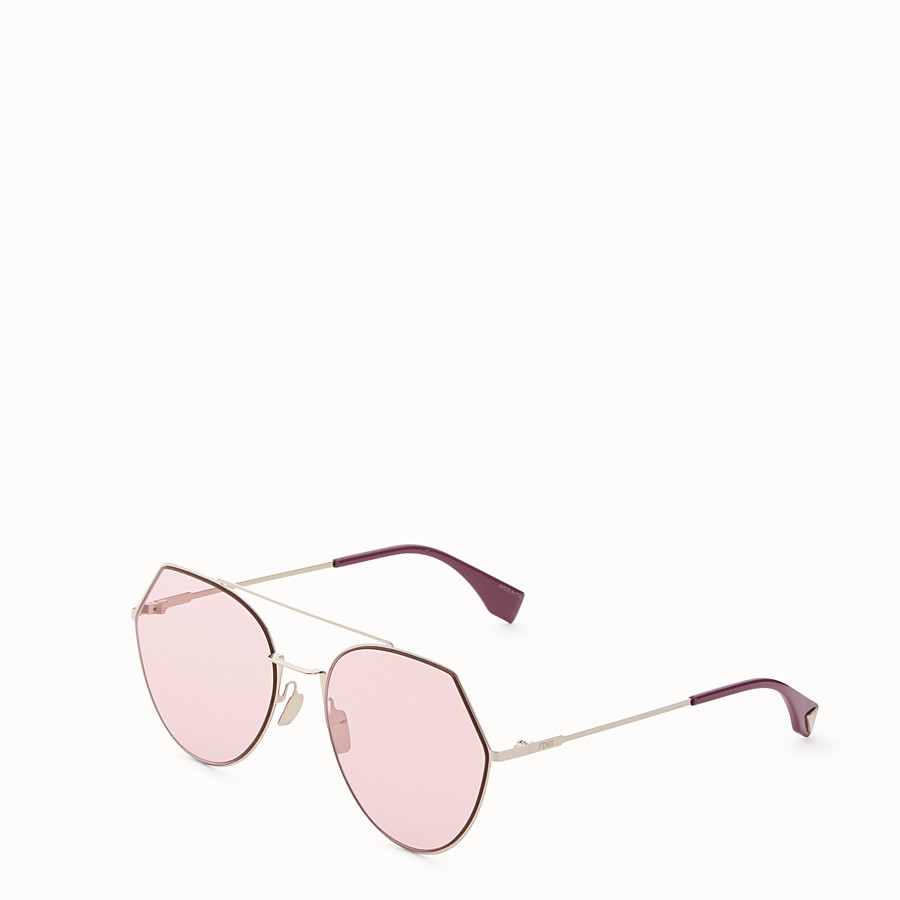 FENDI EYELINE - Gold-colour sunglasses - view 2 detail