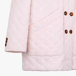 FENDI JACKET - Pink quilted crêpe de chine jacket - view 3 thumbnail