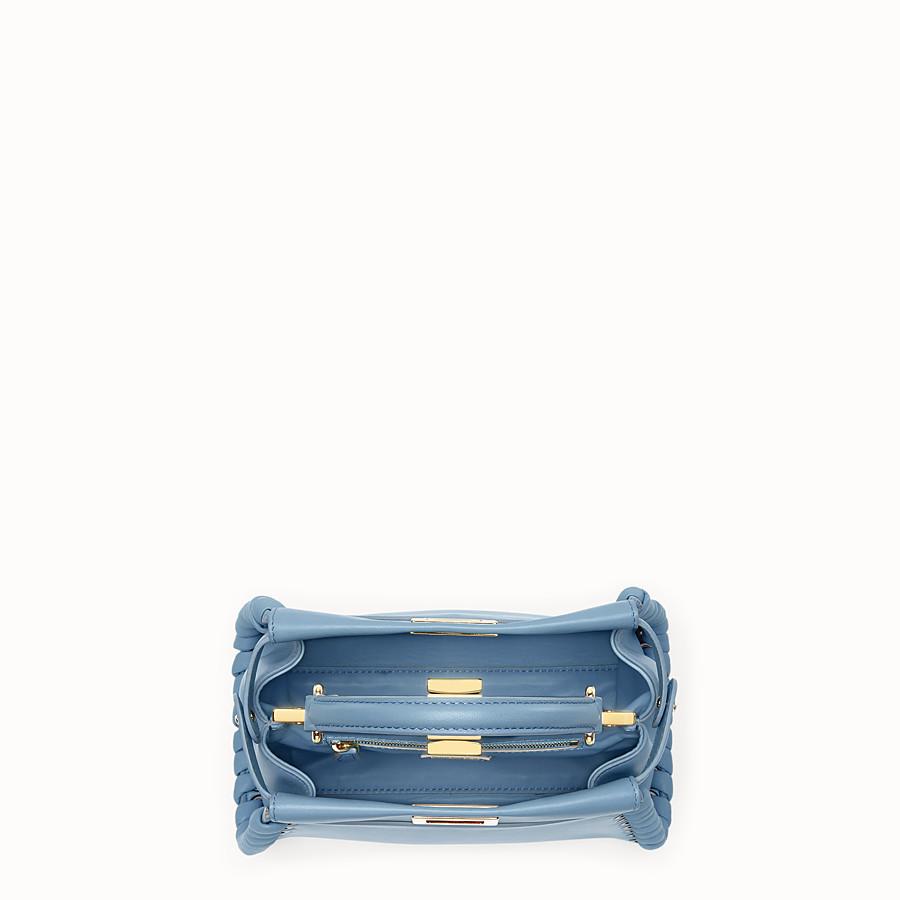FENDI PEEKABOO MINI - Pale blue leather bag - view 4 detail