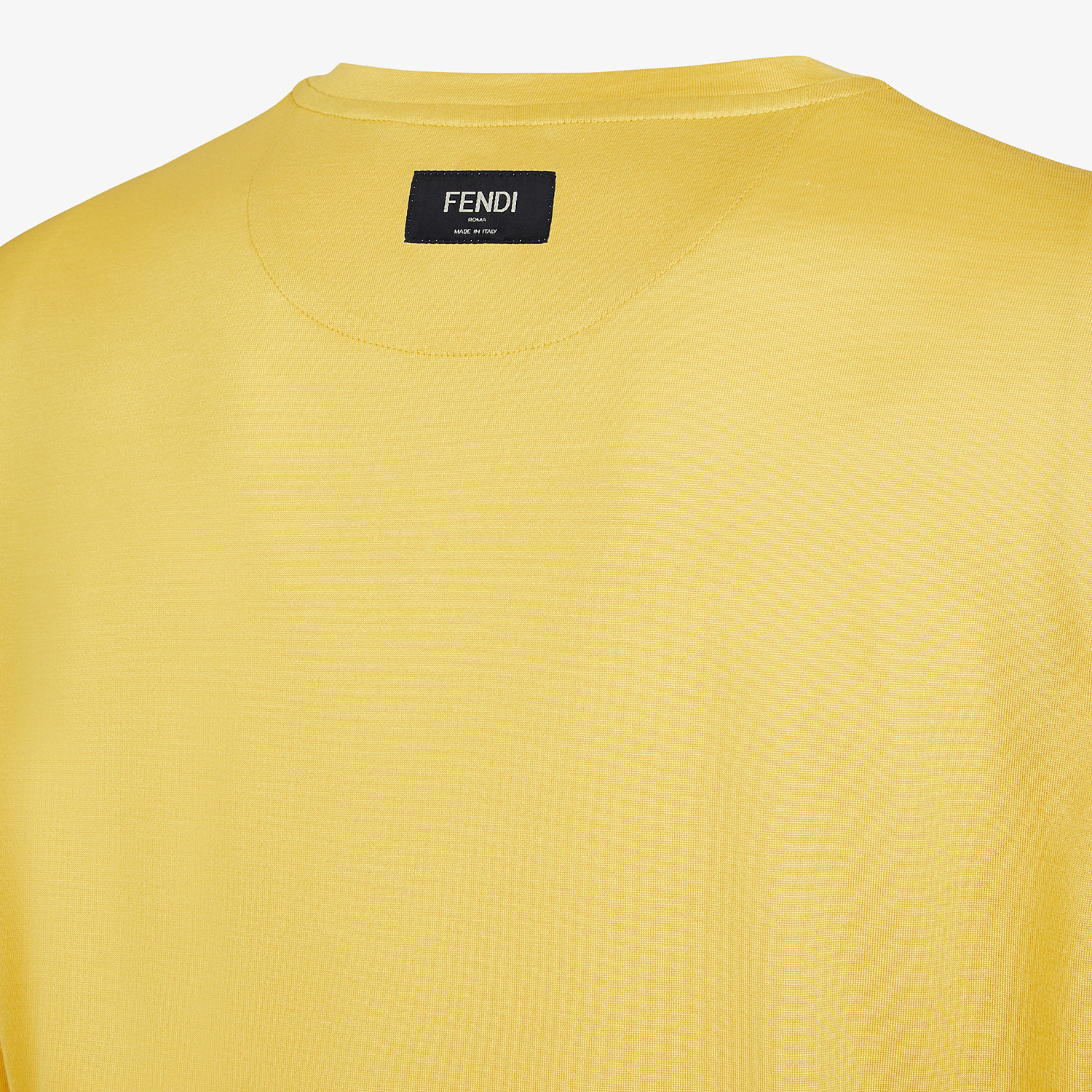FENDI T-SHIRT - Yellow silk T-shirt - view 3 detail